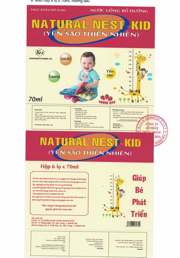 Thực phẩm bổ sung Natural Nest Kid ( Yến Sào Thiên Nhiên )